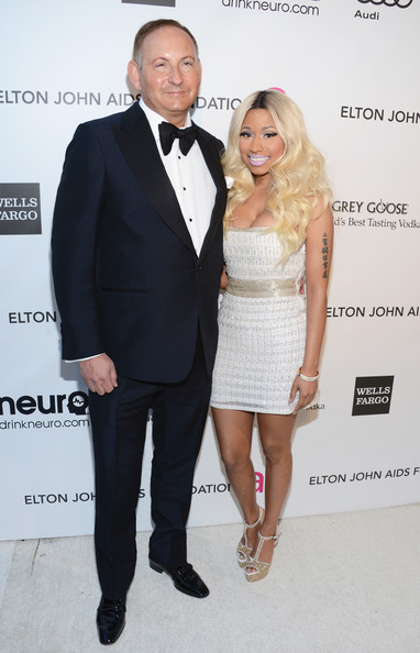 Nicki MINAJ JOHN DEMSEY ESTEE LAUDER ELTON JOHN OSCAR Hot Shots: Nicki Minaj Parties With Kim Kardashian & Britney Spears At Elton John Oscar Bash