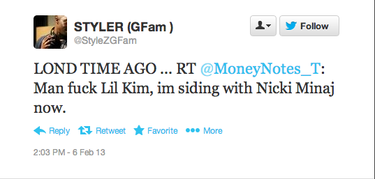 Screen Shot 2013 02 06 at 14.21.28 Hot Shot: Lil Kim Meets Fan In LA / Fans Question Comeback & Slam New Image