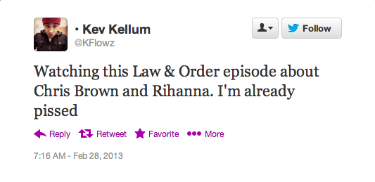 Screen Shot 2013 02 28 at 14.40.15 Rihanna Fans Respond To Law & Order: SVU Drama
