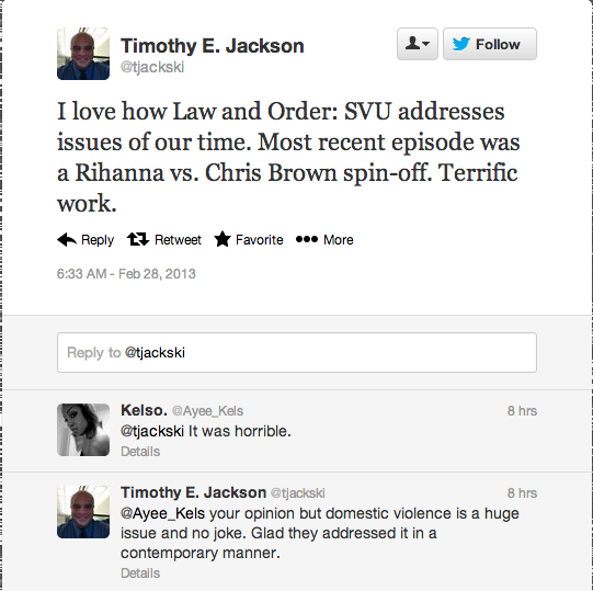 Screen Shot 2013 02 28 at 14.41.57 Rihanna Fans Respond To Law & Order: SVU Drama