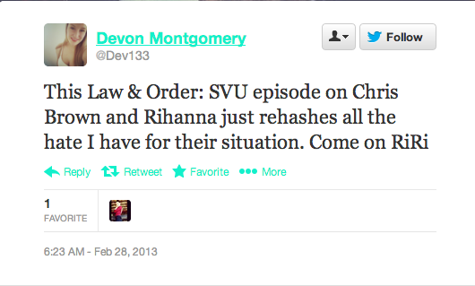 Screen Shot 2013 02 28 at 14.42.34 Rihanna Fans Respond To Law & Order: SVU Drama