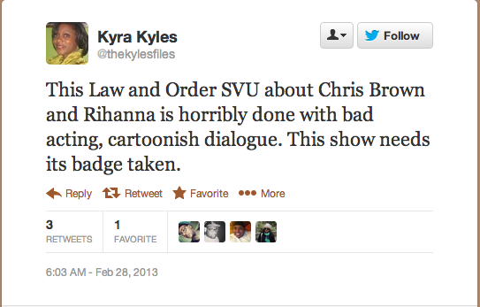 Screen Shot 2013 02 28 at 14.43.29 Rihanna Fans Respond To Law & Order: SVU Drama