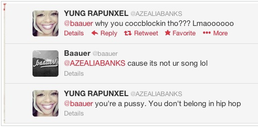 Screen shot 2013 02 15 at 10.59.44 PM Azealia Banks Beefs With Perez Hilton Again, Angers Fans With Slurs