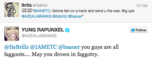 Screen shot 2013 02 15 at 11.02.11 PM Azealia Banks Beefs With Perez Hilton Again, Angers Fans With Slurs