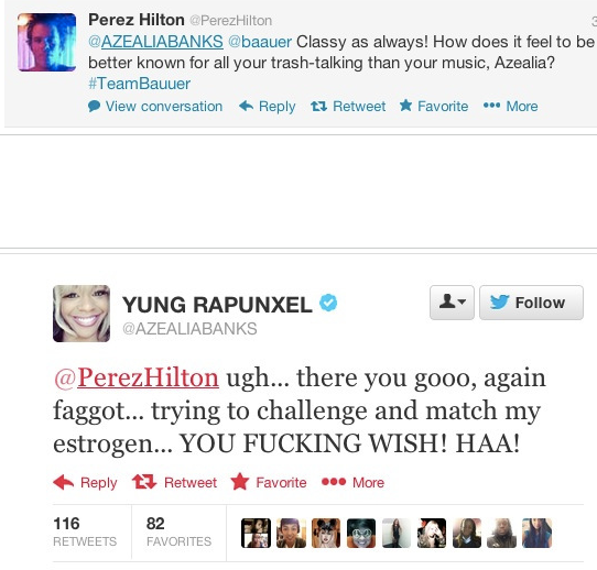 Screen shot 2013 02 15 at 11.03.19 PM Azealia Banks Beefs With Perez Hilton Again, Angers Fans With Slurs