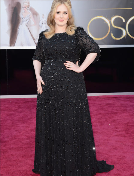 Screen shot 2013 02 24 at 8.39.59 PM Watch:  Adele Amazes Academy Awards Audience With Skyfall Performance
