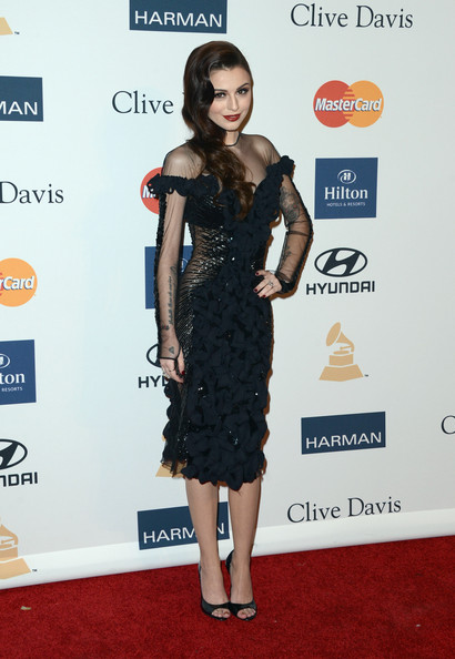 clive davis grammy 2013 cher lloyd Hot Shots: Stars Shine At Clive Davis Pre Grammy Gala 2013