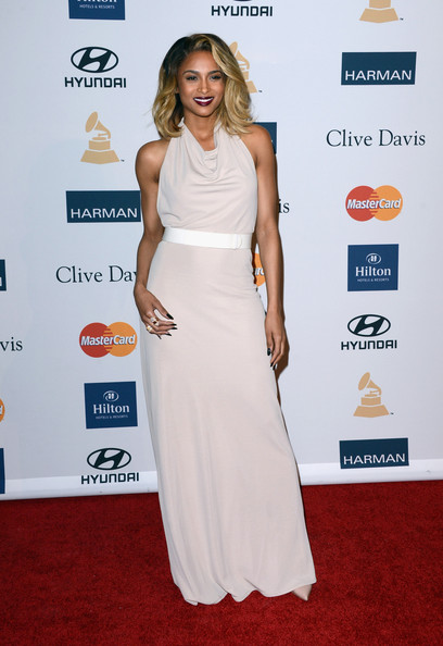 clive davis grammy 2013 ciara 3 Hot Shots: Stars Shine At Clive Davis Pre Grammy Gala 2013