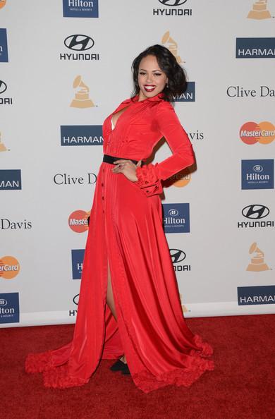 clive davis grammy 2013 elle varner Hot Shots: Stars Shine At Clive Davis Pre Grammy Gala 2013