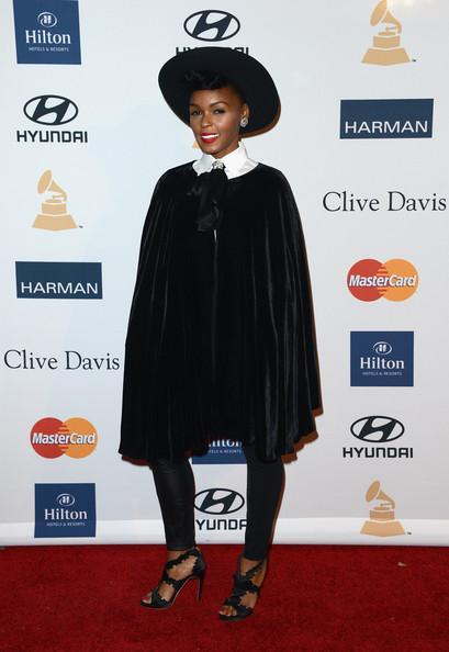 clive davis grammy 2013 janelle monae Hot Shots: Stars Shine At Clive Davis Pre Grammy Gala 2013