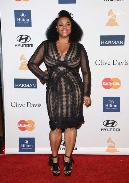 clive davis grammy 2013 jill scott Hot Shots: Stars Shine At Clive Davis Pre Grammy Gala 2013