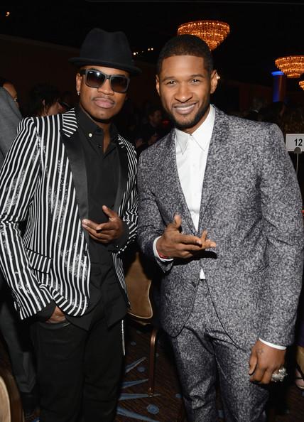 clive davis grammy 2013 ne yo usher 2 Hot Shots: Stars Shine At Clive Davis Pre Grammy Gala 2013