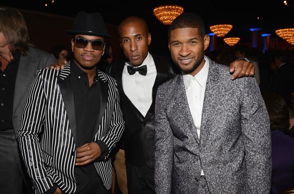clive davis grammy 2013 ne yo usher Hot Shots: Stars Shine At Clive Davis Pre Grammy Gala 2013