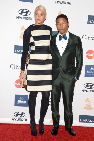 clive davis grammy 2013 pharrell Hot Shots: Stars Shine At Clive Davis Pre Grammy Gala 2013