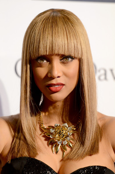 clive davis grammy 2013 tyra banks Hot Shots: Stars Shine At Clive Davis Pre Grammy Gala 2013