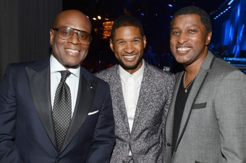 clive davis grammy 2013 usher e1360501196496 Hot Shots: Stars Shine At Clive Davis Pre Grammy Gala 2013