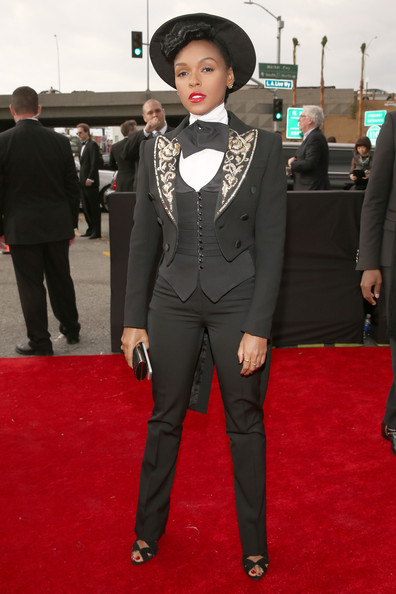 janellemonae Grammy Awards 2013: Red Carpet Arrivals