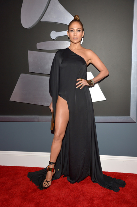 jlo lopez grammys 2013 Grammy Awards 2013: Red Carpet Arrivals