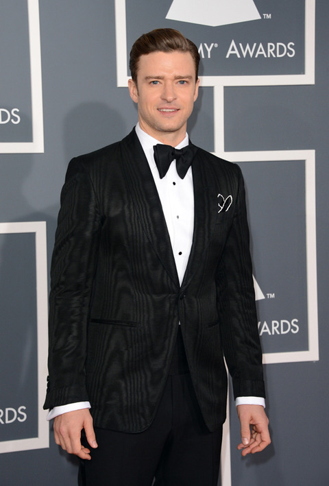 justin timberlake grammys 2013 Grammy Awards 2013: Red Carpet Arrivals
