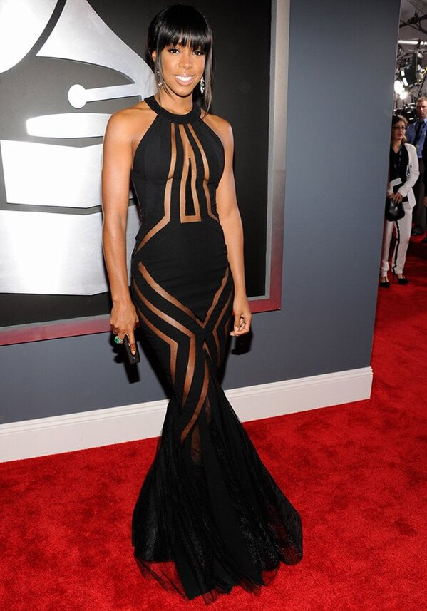 kelly rowland grammys 2013 Grammy Awards 2013: Red Carpet Arrivals