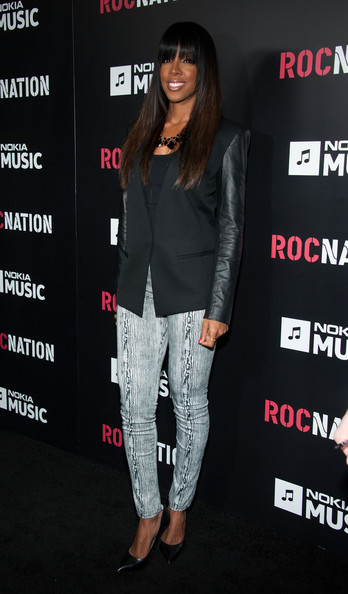 kelly rowland roc nation 2013 Hot Shots: Kelly Rowland & Kylie Minogue Stun At 'Roc Nation Pre Grammy Brunch'