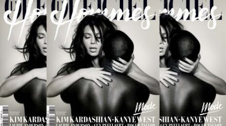 Must-See: Kanye West & Kim Kardashian's Steamy L'Officiel Hommes Cover