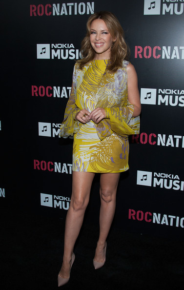 kylie minogue roc nation 2013 2 Hot Shots: Kelly Rowland & Kylie Minogue Stun At 'Roc Nation Pre Grammy Brunch'