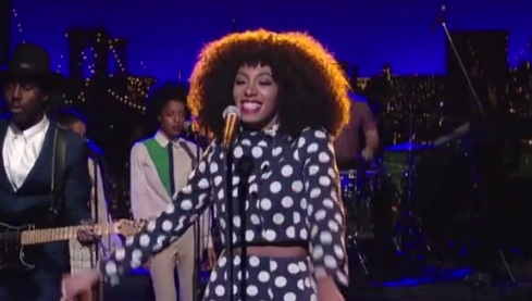 solange letterman Watch: Solange Performs Dont Let Me Down On Letterman