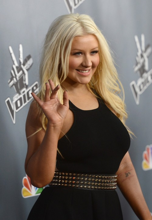 Christina+Aguilera+Voice+Premiere 3 e1363864753430 Hot Shots: Christina Aguilera Stuns At The Voice Season 4 Premiere