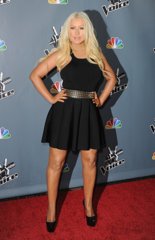 Christina+Aguilera+Voice+Premiere 4 e1363864673242 Hot Shots: Christina Aguilera Stuns At The Voice Season 4 Premiere