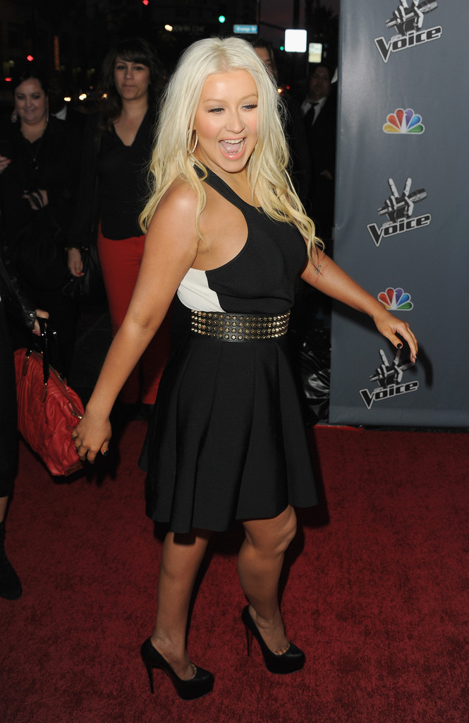 Christina+Aguilera+Voice+Premiere 5 Hot Shots: Christina Aguilera Stuns At The Voice Season 4 Premiere