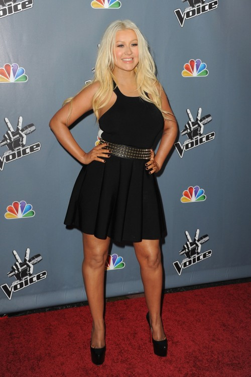Christina+Aguilera+Voice+Premiere e1363864702362 Hot Shots: Christina Aguilera Stuns At The Voice Season 4 Premiere