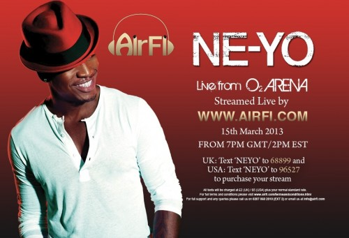 NEYO stream e1363256615533 Sponsored: Stream Ne Yos London Concert Live!