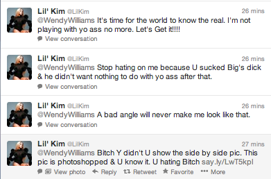 Screen Shot 2013 03 12 at 23.13.59 Lil Kim Has Twitter Meltdown / Attacks Wendy Williams & Disloyal Fans