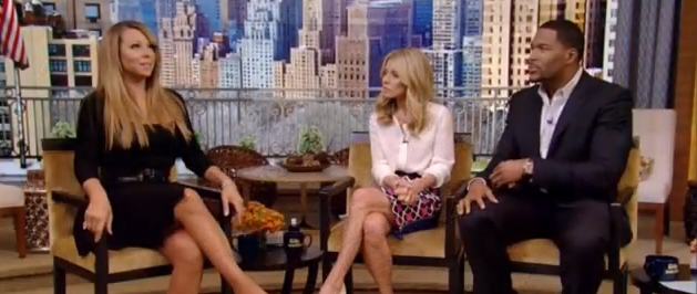 Screen shot 2013 03 01 at 5.56.21 PM Watch:  Mariah Carey Drops By Live! With Kelly & Michael, Drops News On New Album Due Date