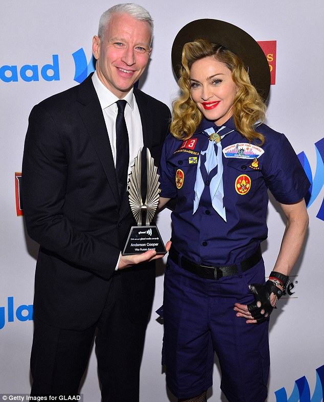 article 2294668 18B9BFCE000005DC 240 634x786 Madonna Attends GLAAD Media Awards...Dressed As A Boy Scout / Delivers Rousing Speech Against Organization