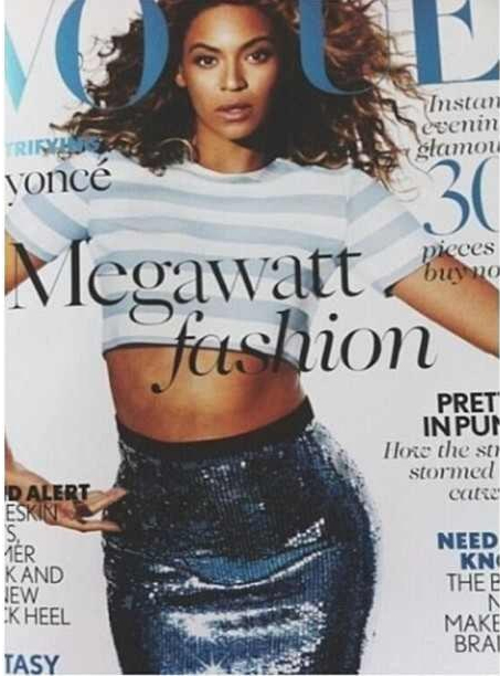Sneak Peek: Beyonce Beams In Blue For British Vogue