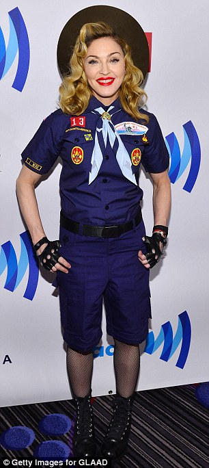 madonna that grape juice Madonna Attends GLAAD Media Awards...Dressed As A Boy Scout / Delivers Rousing Speech Against Organization