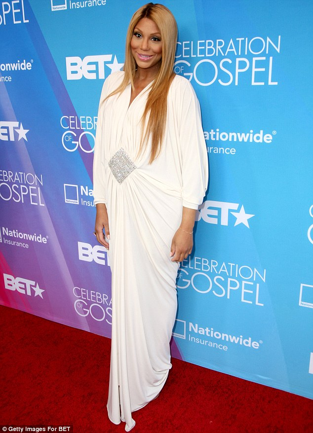 tamar braxton1 Hot Shots:  Tamar Braxton Amongst Stars Shining on BETs Celebration of Gospel Red Carpet (2013)