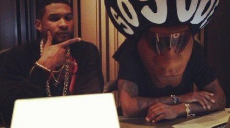 Hot Shot: Usher & Jermaine Durpi Hit Studio For New Album