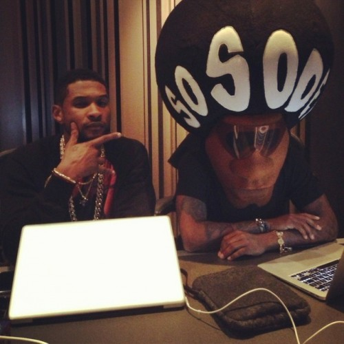 Hot Shot: Usher & Jermaine Durpi Hit Studio For New Album