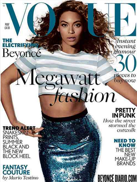 BEYONCE BRITISH VOGUE THAT GRAPE JUICE Hot Shots: Beyonce Storms British Vogue: Im A Modern Day Feminist