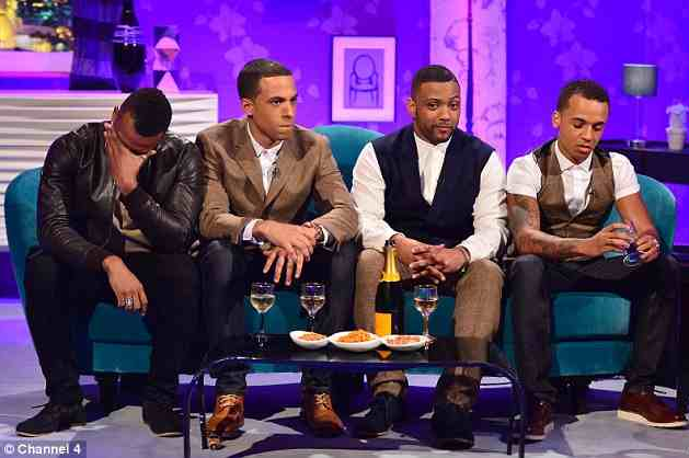 JLS THAT GRAPE JUICE ORITSE JLS Split: Oritse Williams Breaks Down During Alan Carr Taping