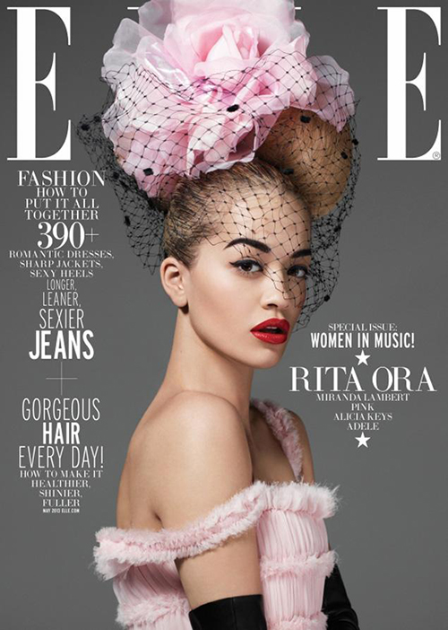 Rita Ora Elle That Grape Juicejpg1 Behind The Scenes: Rita Ora Shoots For Elle Women In Music
