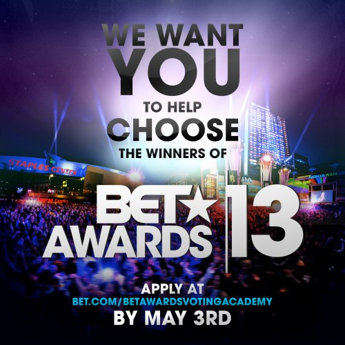 bet voting 2013 e1366662882562 Sponsored: Win Chance To Join BET Awards 2013 Voting Academy!