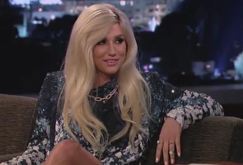 kesha kimmel1 Watch: Ke$ha Visits Kimmel