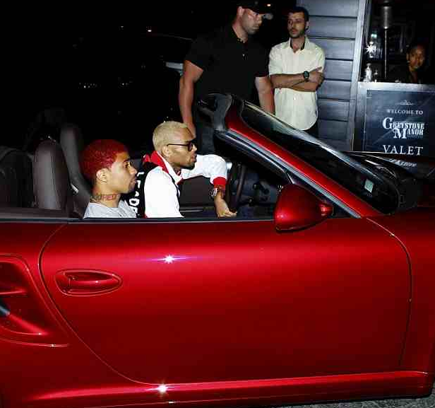 CHRIS BROWN KID RED THAT GRAPE JUICE Hot Shots: Chris Brown Hits Greystone With Kid Red, Karrueche Tran & JLS Aston