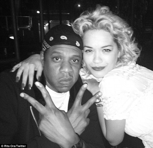 RITA ORA JAY Z THAT GRAPE JUICE Hot Shots: Rita Ora & Jay Z Enjoy The Mrs.Carter Show