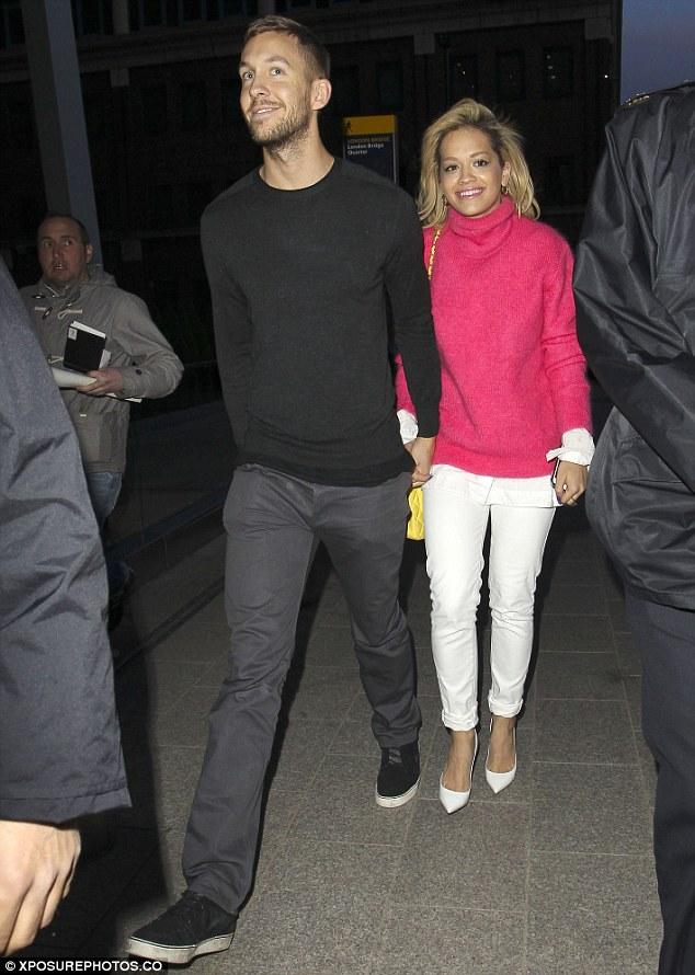 RITA ORA THAT GRAPE JUICE CALVIN HARRIS We Found Love? : Rita Ora Steps Out With Calvin Harris