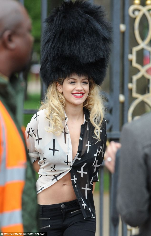 RITA ORA THAT GRAPE JUICE Hot Shots: Rita Ora Guards Up For New Photo Shoot